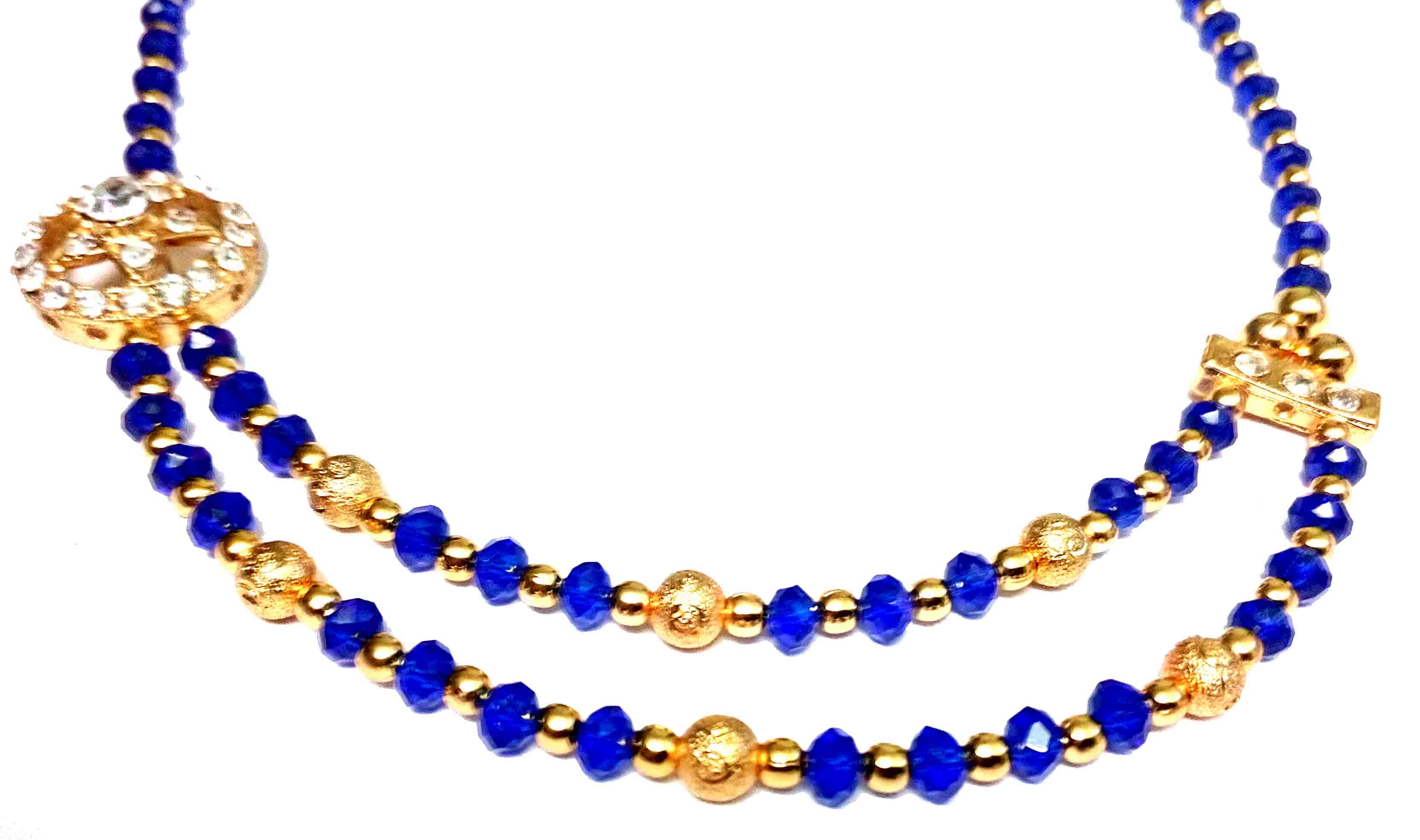 stretch blue homebyrachel necklace beaded sparkly bead product