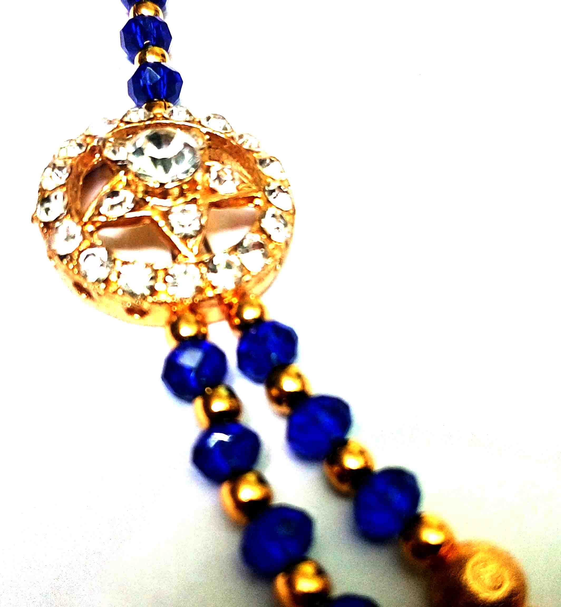 goldstone blue necklace artcrystal product cobalt